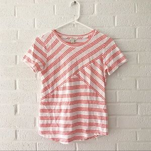 J. Crew Factory Striped Criss Cross Tee XS